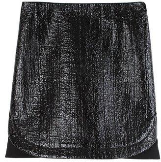 Tibi Resin Basketweave Mini Skirt