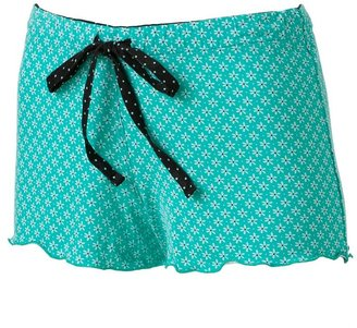 Candies Candie's ® sweet bouquet knit ruffle pajama shorts