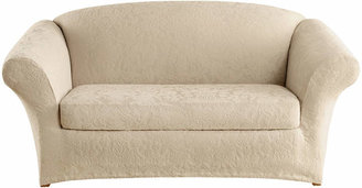 Sure Fit Stretch Jacquard Damask 2-pc. Loveseat Slipcover