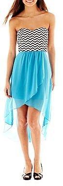 Trixxi Sweetheart-Neck High-Low Dress
