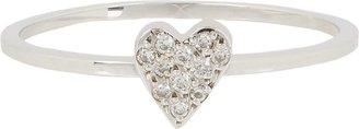 Ileana Makri Diamond & White Gold Love Ring-Colorless