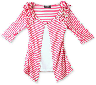 Amy Byer Kids Top, Girls Striped Ruffled Layered Look