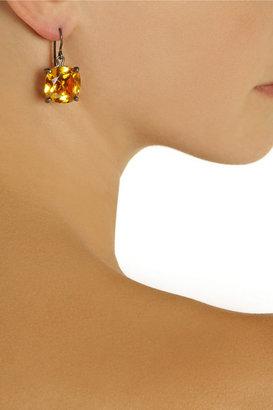 Bottega Veneta Oxidized sterling silver cubic zirconia earrings