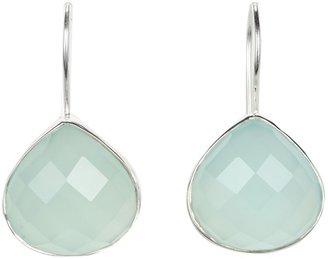 Nunu Aqua Chalcedony Drop Earrings (Silver Aqua Chalcedony) - Jewelry