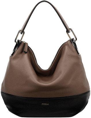 Furla Zizi Leather Colorblock Hobo Bag