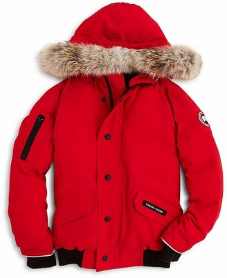 Canada Goose Boys' Rundle Bomber with Fur Hood - Sizes XS-XL $475 thestylecure.com