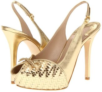Joan & David Caminia (Gold Woven) - Footwear