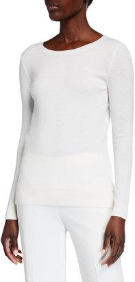 Neiman Marcus Plus Size Cashmere Crewneck Sweater