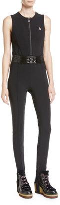 MONCLER GRENOBLE Tuta Belted Stirrup Jumpsuit, Black