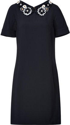 Moschino Black Dress with Embellished Collar