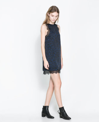 Zara Lace Print Dress