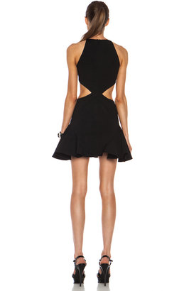 Cushnie et Ochs Flared Viscose-Blend Dress with Side Cutouts