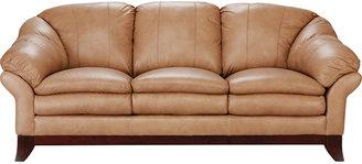 Rooms To Go Romero Toffee Leather Sofa