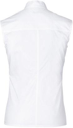 Paco Rabanne Cotton Sleeveless Shirt with Deep V-Neckline