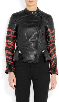 3.1 Phillip Lim Tiger-print leather biker jacket