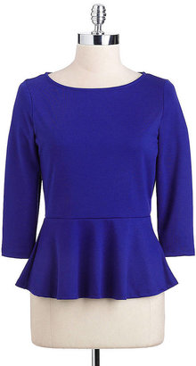 Casual Couture by Green Envelope Peplum Top