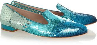 Miu Miu Dégradé sequined slippers