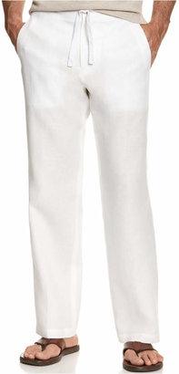 Tasso Elba Men's 100% Linen Drawstring Pants, Created for Macy's $69.50 thestylecure.com