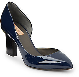 Reed Krakoff Patent Leather Monolith Heel D'Orsay Pumps