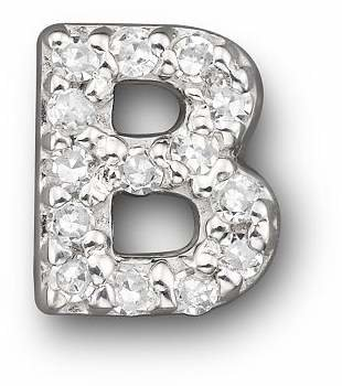 Bloomingdale's KC Designs Diamond Initial Stud Earring in 14K White Gold