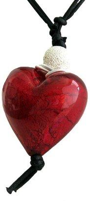 Murano Heart Pendant - Miro Red