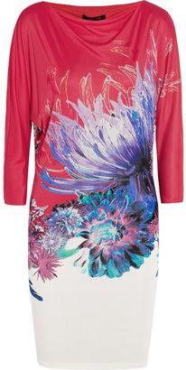 Roberto Cavalli Printed satin-jersey mini dress