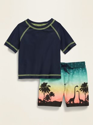 Old Navy Rashguard & Swim Trunks Set for Baby