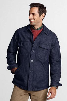 Lands' End NQP Men's Regular Denim Shirt Jacket