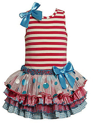Bonnie Jean Toddler Sparkle Tiered Mesh Dress