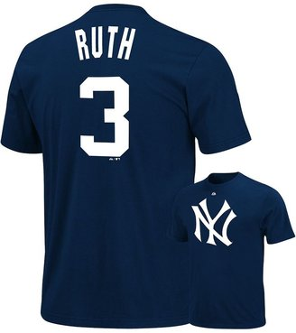 New York Yankees Majestic Babe Ruth Cooperstown Tee