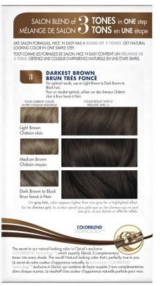 Clairol Nice 'n Easy Color Blend Foam Permanent Haircolor Darkest Brown 3