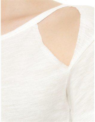 LnA White Cotton Diamond Tee
