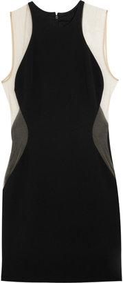 Stella McCartney Gibson stretch-cady and mesh dress