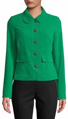 Karl Lagerfeld PARIS Peter Pan Collar Long-Sleeve Blazer