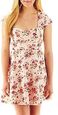 JCPenney Floral Open-Back Cutout Dress