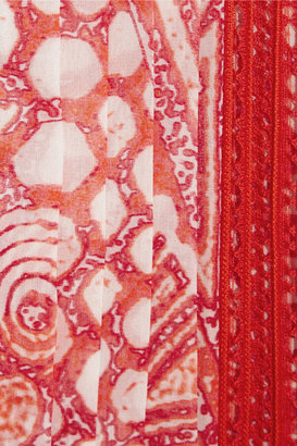 Roberto Cavalli Printed silk-chiffon kaftan