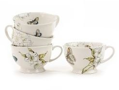 Anthropologie Butterfly Study Mugs