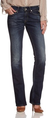 Replay Women's Straight Fit Jeans - Blue - Blau (9) - 26/32 (Brand size: 26/32)