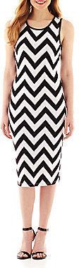 Ruby Rox Sleeveless Chevron Print Dress