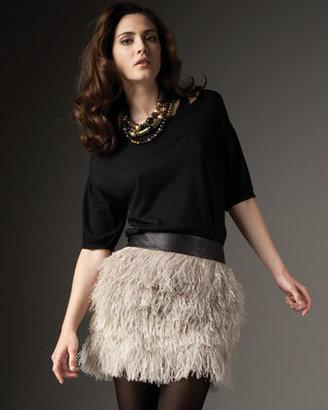 Robert Rodriguez Feather Skirt
