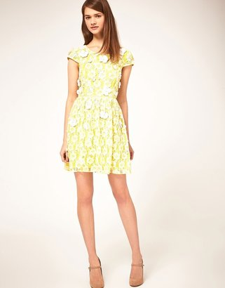 Asos Skater Dress with Embellished Detail