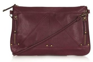 Topshop Studded Zip Clutch