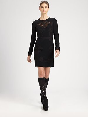 Dolce & Gabbana Lace-Trimmed Dress