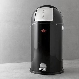 Wesco Kickboy 10.6-Gallon Black Trash Can.