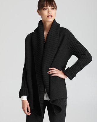Vince Sweater Jacket - Felted Rib Collar