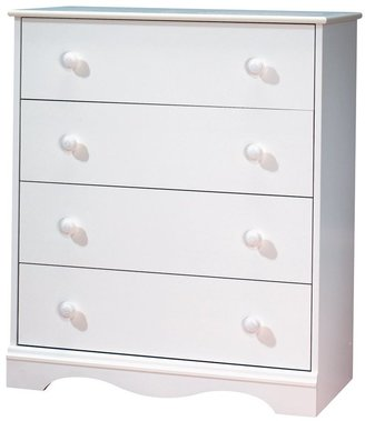 Green Baby South Shore Heavenly Collection 4-Drawer Chest - Pure White