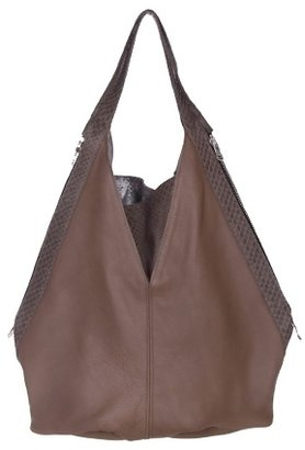 JJ Winters Boa Bucket Bag in Taupe