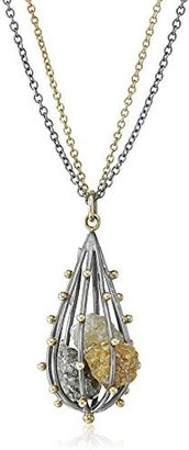 "Moritz Glik Kaleidoscope"" 18K Gold and Colored Rough Diamond Cage Necklace"