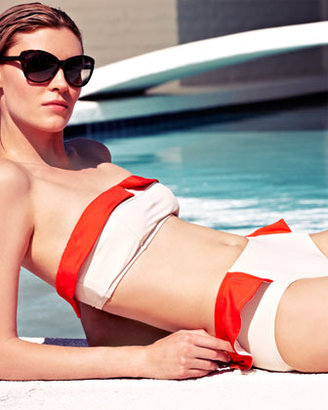 Marc by Marc Jacobs Colorblock Ruffle Swim Bottom