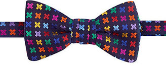 Duchamp Multi-colour geometric print bowtie